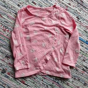 Pink and white long sleeve shirt